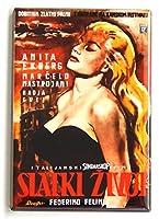 La Dolce Vita ( Yugoslavia )映画ポスター冷蔵庫マグネット( 2.5X 3.5インチ)