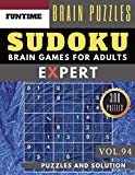 Expert SUDOKU: Jumbo 300 expert SUDOKU puzzle books with solution Brain Games Puzzles Books for Expert Adult and Senior (hard sudoku puzzle books Vol.94)