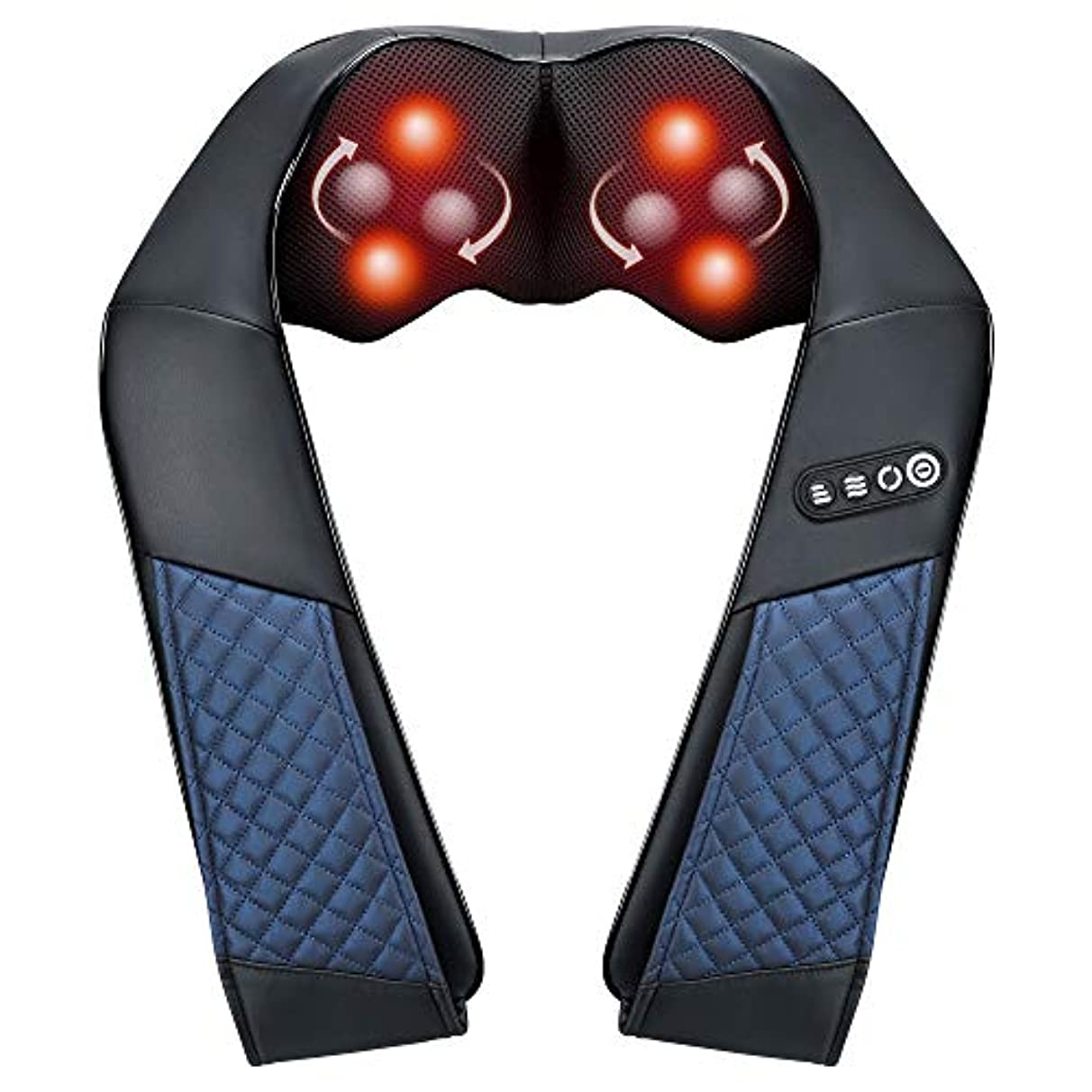 うなる出撃者欺くEAShuhe Neck and Shoulder Massager with Heat - Shiatsu Back Massage Pillow with 3D Deep Tissue Kneading for Foot...