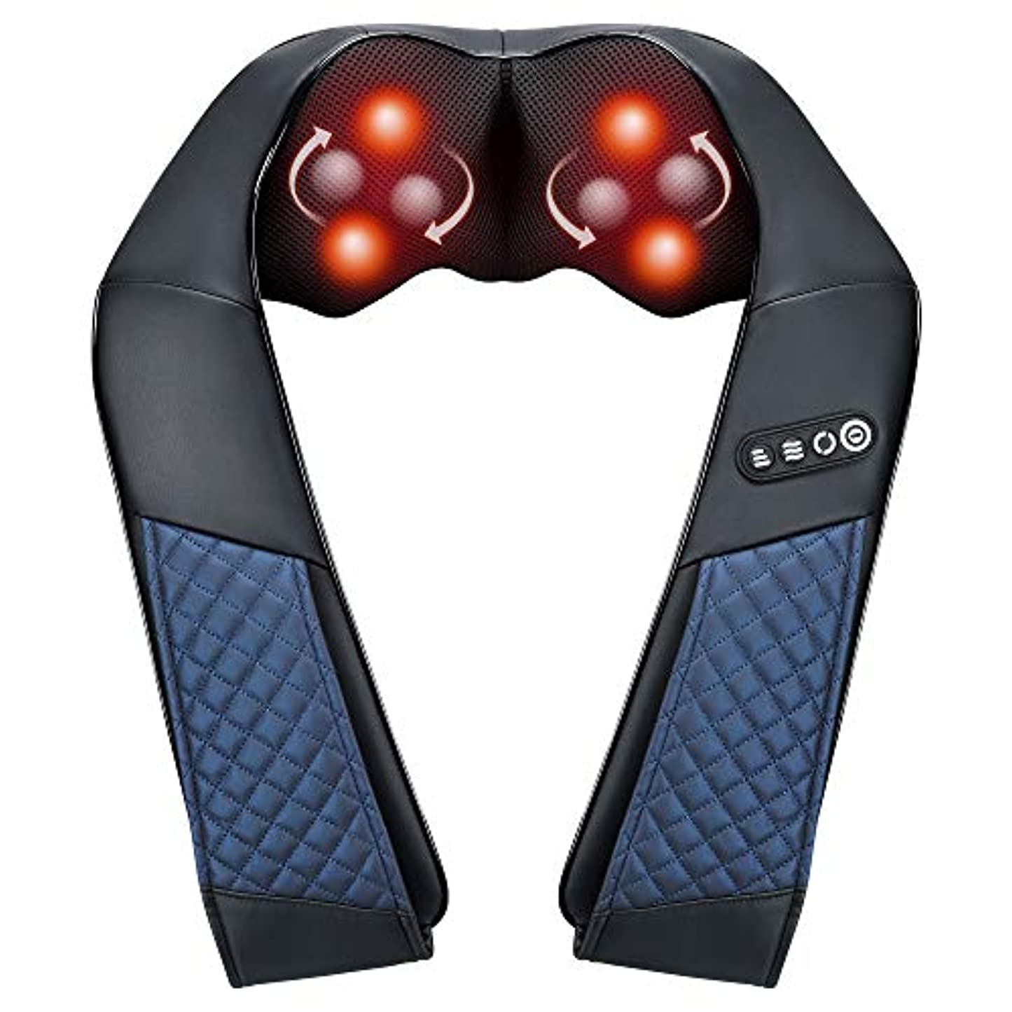 反映する鰐雄弁EAShuhe Neck and Shoulder Massager with Heat - Shiatsu Back Massage Pillow with 3D Deep Tissue Kneading for Foot...