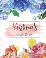 Kristina's Planner: Monthly Planner 3 Years January - December 2020-2022 | Monthly View | Calendar Views Floral Cover - Sunday start