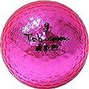 公認球 高反発ソフトコア 2ピース構造キラキラメタルボール 12球 1ダース ピンク FLYGADR-PD4