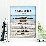 My Vinyl Story - 7 Rules of Life 引用句 ウォールアートフレーム装飾 8x10 ホワイトスタンディングデスクフレーム 装飾写真ポスタープリント 励ましギフト オフィス ホーム