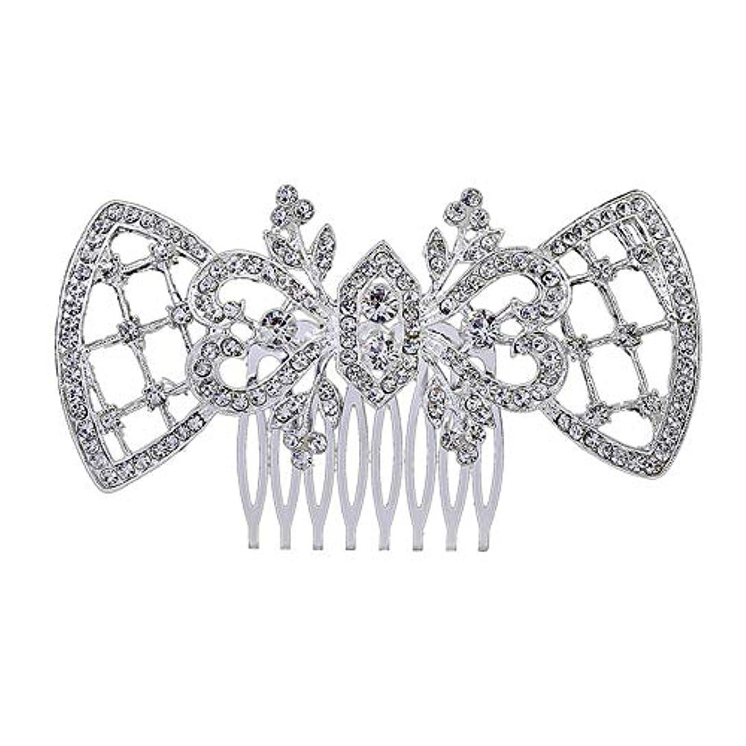 取り付け出口美徳髪の櫛、櫛、ブライダル髪、髪の櫛、ハート形、ラインストーンの櫛、合金の帽子、結婚式のアクセサリー