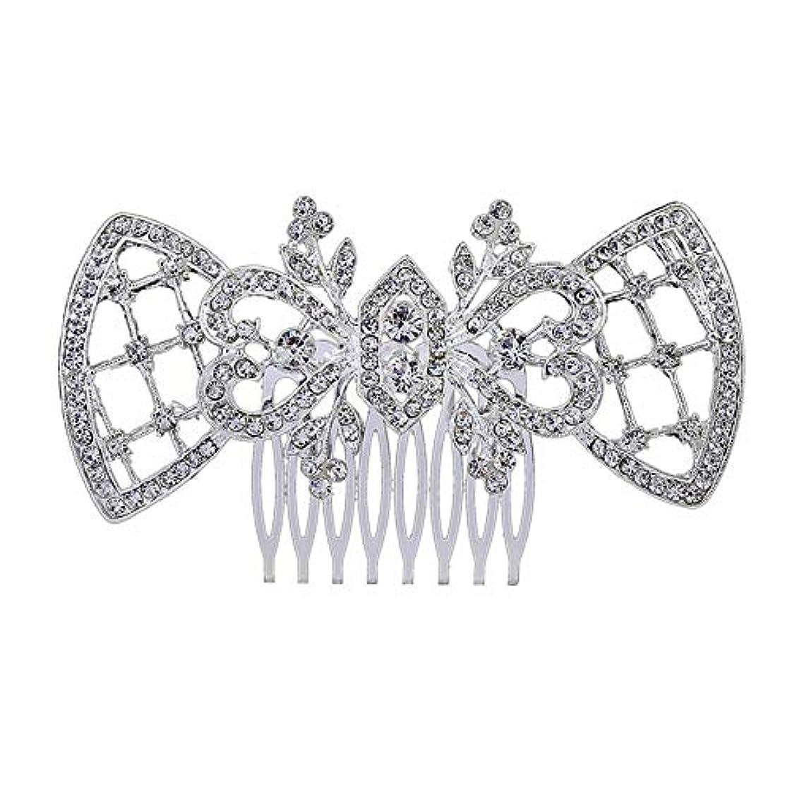 横答え服髪の櫛、櫛、ブライダル髪、髪の櫛、ハート形、ラインストーンの櫛、合金の帽子、結婚式のアクセサリー