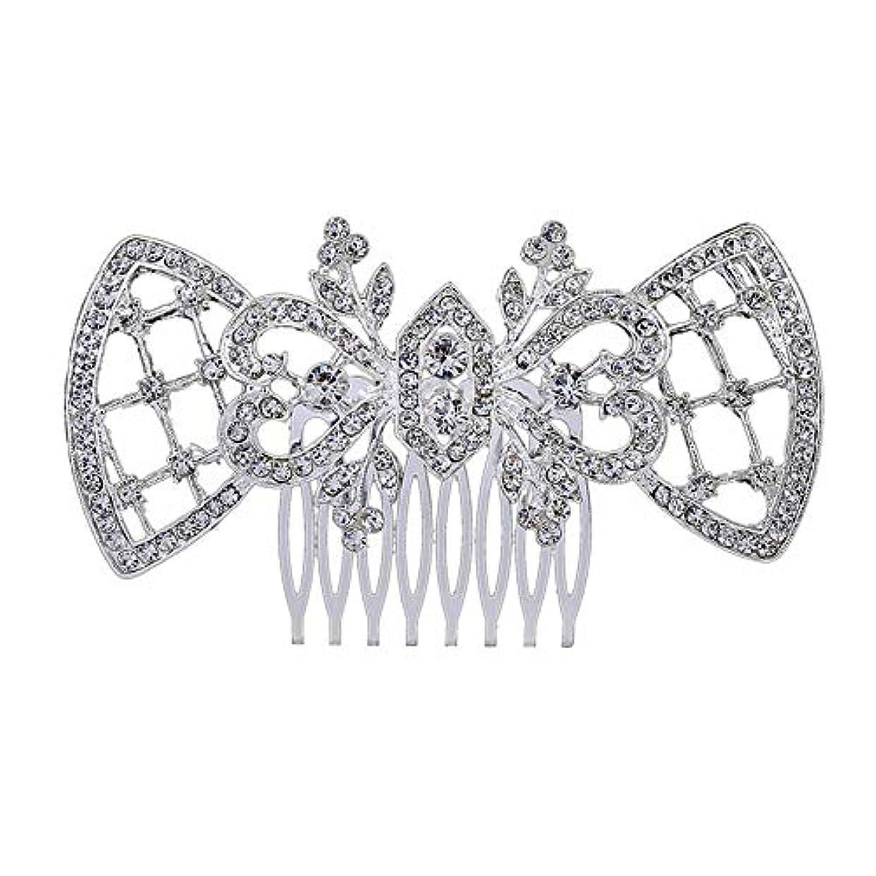 アラスカ聖歌工場髪の櫛、櫛、ブライダル髪、髪の櫛、ハート形、ラインストーンの櫛、合金の帽子、結婚式のアクセサリー