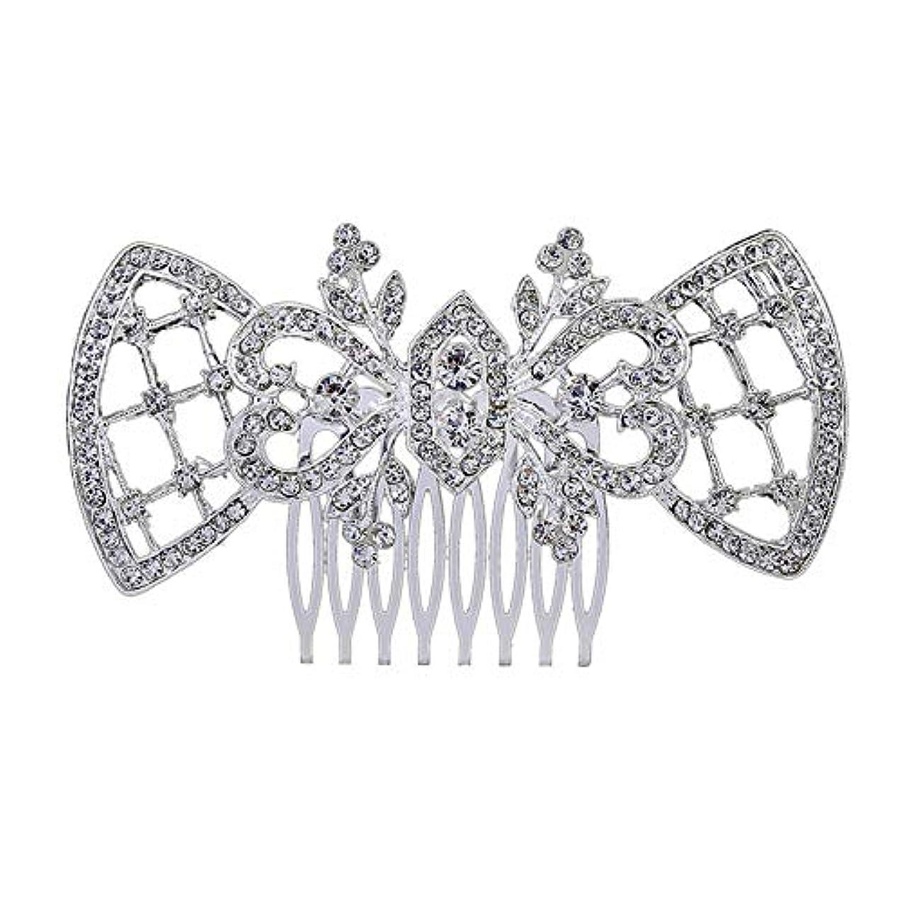 凍った王朝傑出した髪の櫛、櫛、ブライダル髪、髪の櫛、ハート形、ラインストーンの櫛、合金の帽子、結婚式のアクセサリー