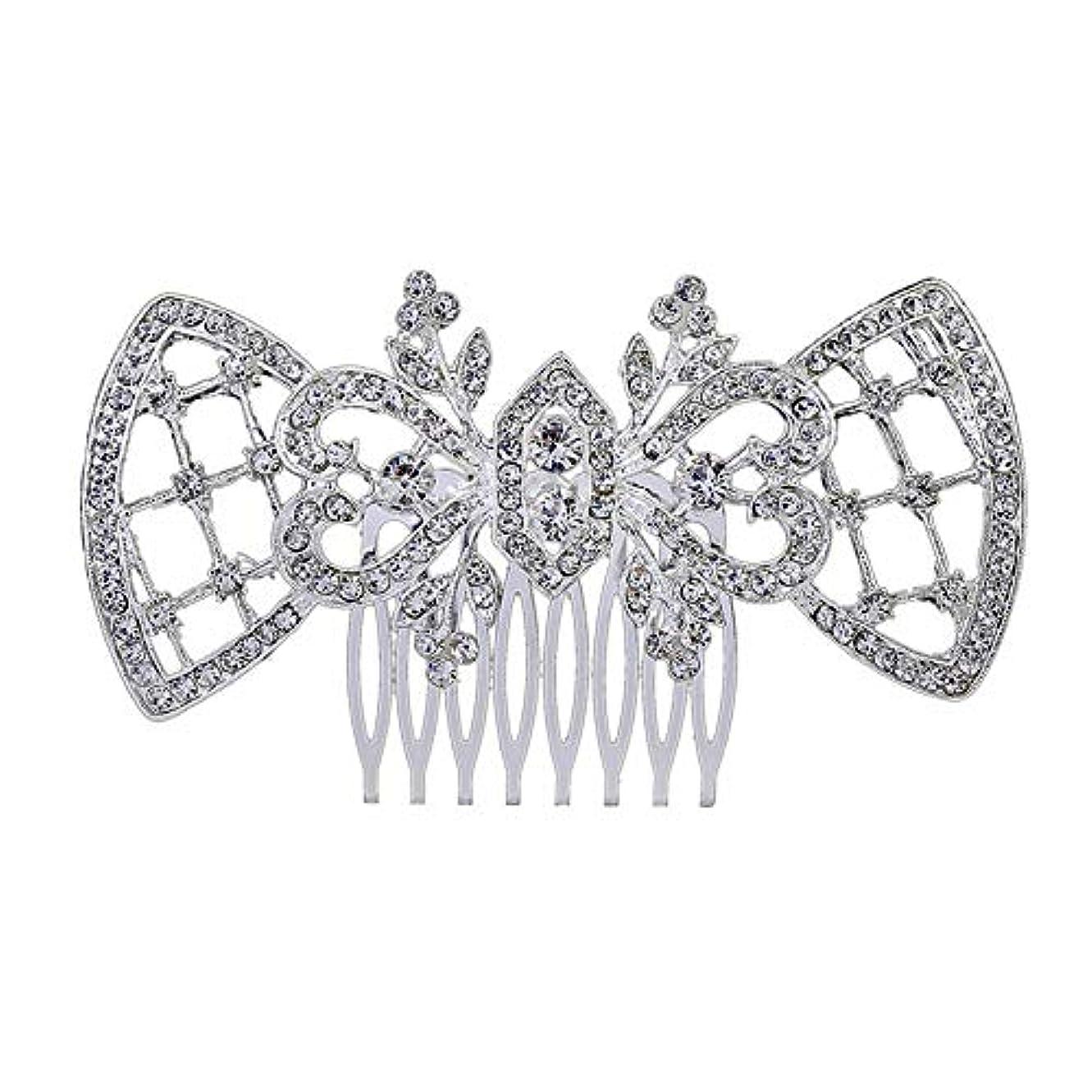 ムス成熟した補う髪の櫛、櫛、ブライダル髪、髪の櫛、ハート形、ラインストーンの櫛、合金の帽子、結婚式のアクセサリー