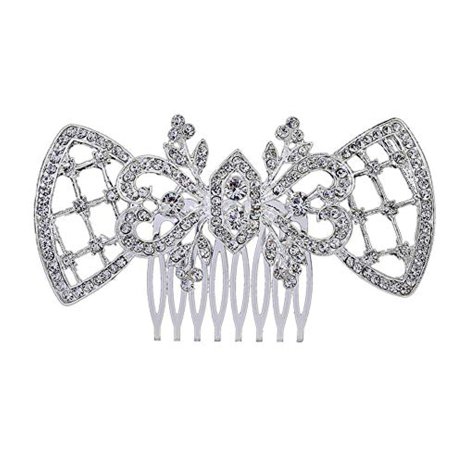 相互接続米ドル合理的髪の櫛、櫛、ブライダル髪、髪の櫛、ハート形、ラインストーンの櫛、合金の帽子、結婚式のアクセサリー
