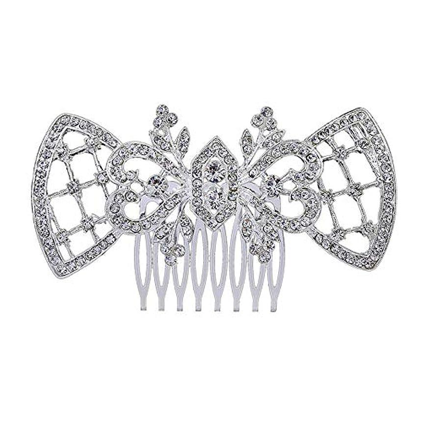 環境に優しい個人的に固める髪の櫛、櫛、ブライダル髪、髪の櫛、ハート形、ラインストーンの櫛、合金の帽子、結婚式のアクセサリー