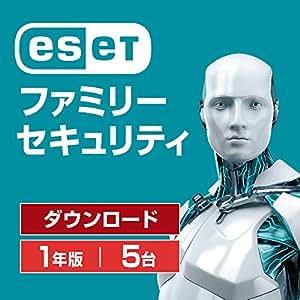 ESET ファミリー セキュリティ (最新版)  5台1年版   オンラインコード版   Win/Mac/Android対応