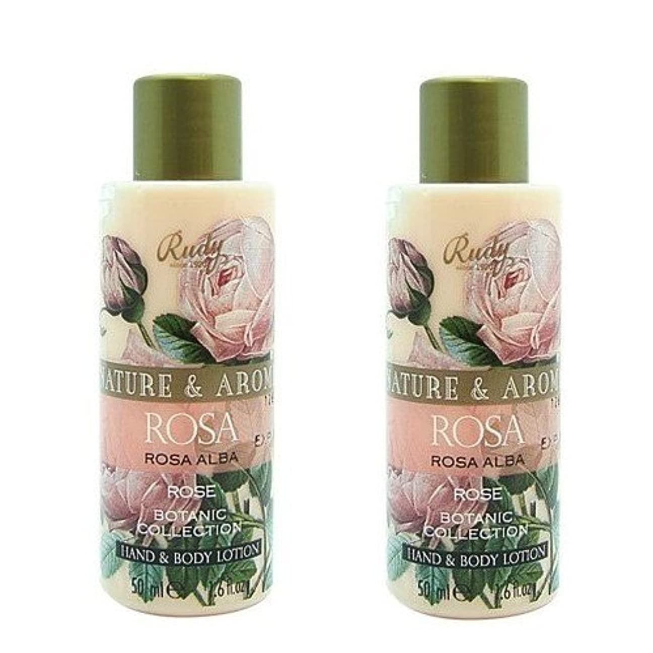 コンパクト利用可能違反する(2個セット)RUDY Nature&Arome SERIES ルディ ナチュール&アロマ Mini Body lotion ミニボディローション ローズ