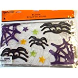 Spider Web Halloween Gel Clings Cling Windowミラー装飾NIP