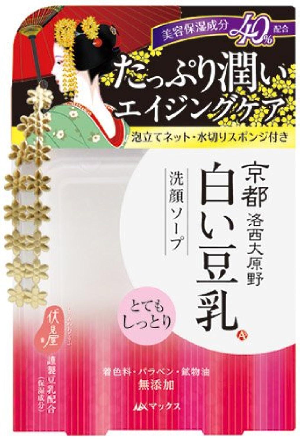 遺棄されたカートン怪しい京都 白い豆乳 洗顔ソープ 100g