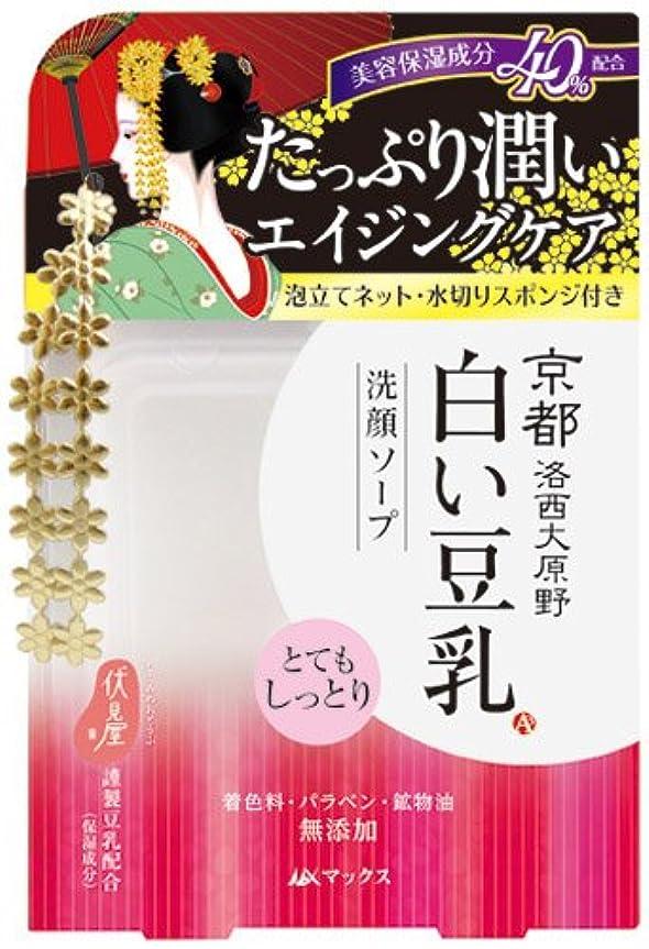 ストレスの多い啓発するブルゴーニュ京都 白い豆乳 洗顔ソープ 100g