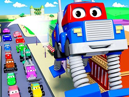 カーシティーのカール・スーパー・トラックと貨物機&スプリングトラック|子供向けトラックアニメ