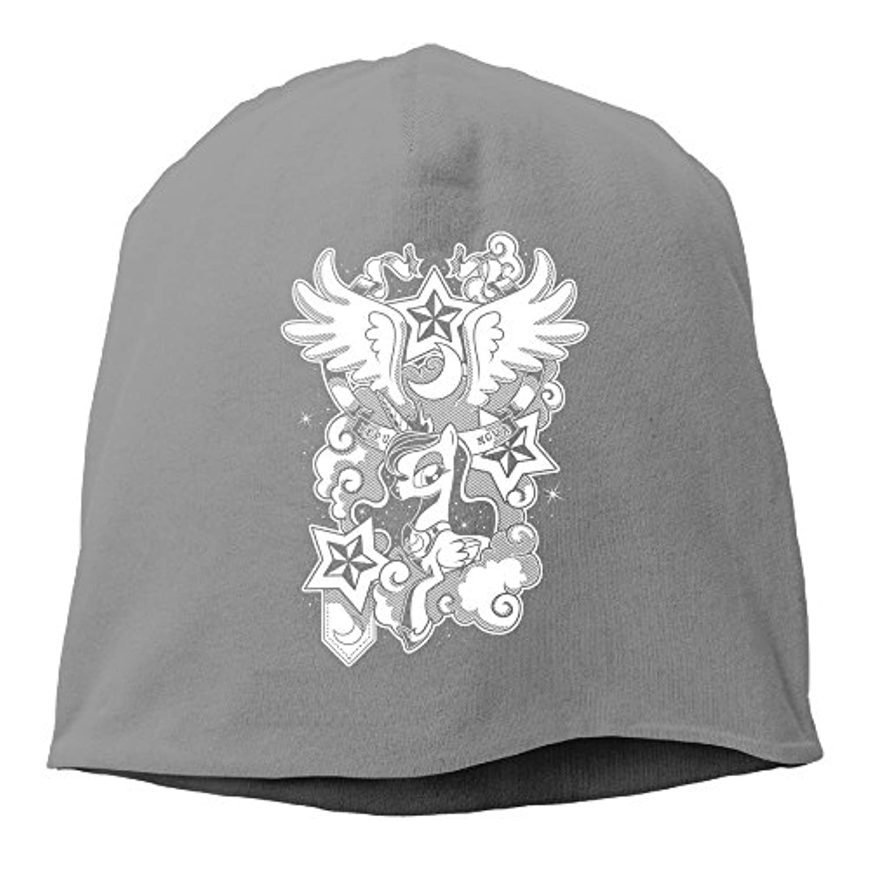 【Dera Princess】 男女兼用 ニット帽 The New Lunar Republicロゴ コットン ニットキャップ 帽子 オールシーズン 被れる