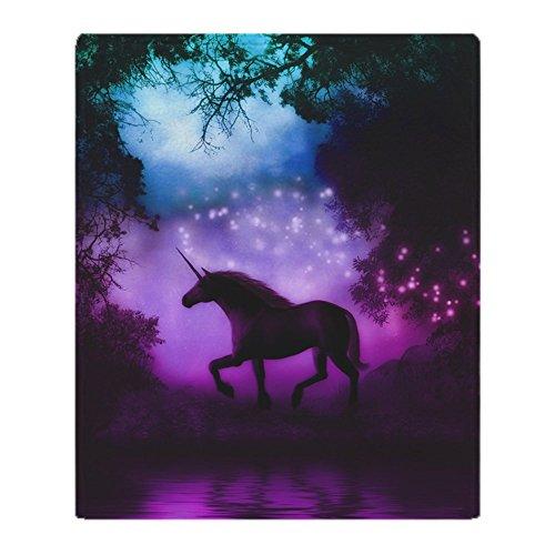 CafePress–Enchanted Unicorn Throw Blanket /カバー–ソフトフリーススローブランケットブランケット、50