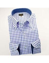 RSD696-003 (スタイルワークス) メンズ長袖ワイシャツ チェック | 青