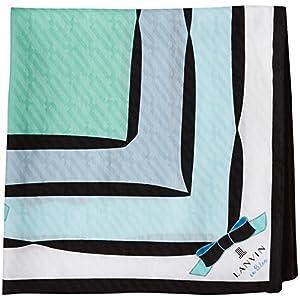 (ランバンオンブルー)LANVIN en Bleu ランバンオンブルー レディース プリントハンカチ 17301004 C グリーン 50cm×50cm