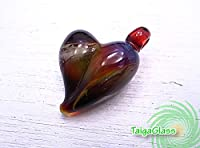 [タイガグラス]Taiga Glass ハートペンダントトップ tg6378
