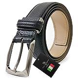 ドルチェ マルガリータ プレミアム イタリア本革ベルト 革幅3.5cm 黒 dmp-51-a-bk