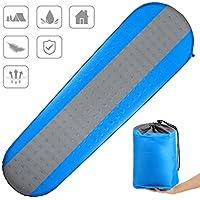 CAMTOA Self Inflating Sleeping Pad、インフレータブルキャンピングマット – 軽量&コンパクトFoam Padding /防水最適 – キャンピングハイキングバックパッキングなど。