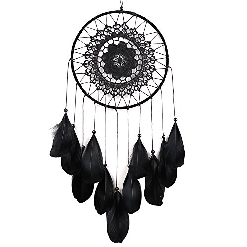 AWAkingdemi Handmade Lace Dream Catcher Feather Bead Hanging Decoration Ornament Gift