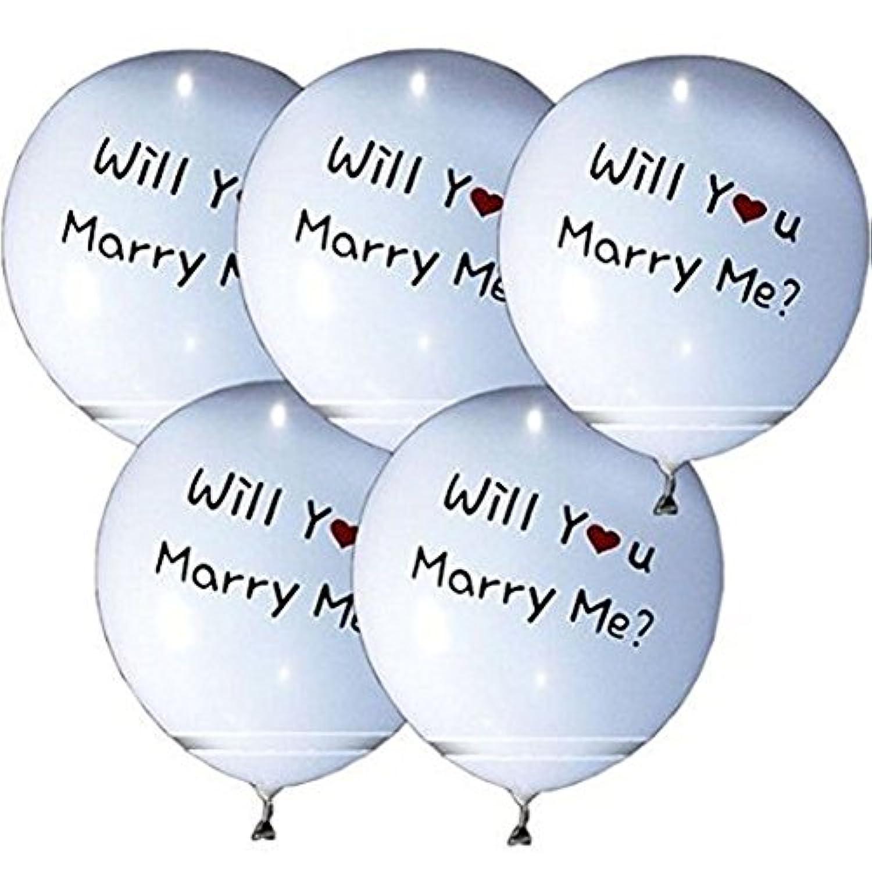 1stモール 【 光る LED 風船 】 5個 セット (MarryMe:ホワイト) ST-LEDBAL-M-WH