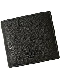 [アルマーニ]ARMANI 財布 ジョルジオアルマーニ 二つ折 メンズ (ブラック) A-2328 [並行輸入品]