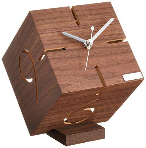 ヤマト工芸 置き時計 パズルスタンド タイプM ウォールナット YK09-106