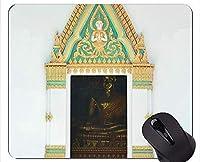 スリップ防止マウスパッド、教会のドア仏の浄化の個人化された長方形の賭博のマウスパッド