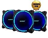 Amazon.co.jpNovonest PCケースファン 青いLEDリングを装着した 120mmファン 25mm厚 pmw(800-1800rpm)3個セット