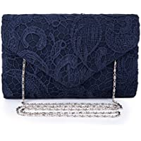 Chichitop Women's Elegant Floral Lace Evening Clutch Envelope Prom Handbag Wedding Purse