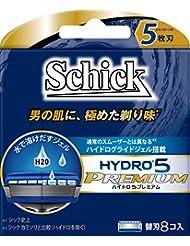 シック Schick 5枚刃 ハイドロ5 プレミアム 替刃 8コ入 男性カミソリ