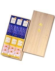 かたりべ 桐箱 ラベンダー/白梅 サック6入 包装品