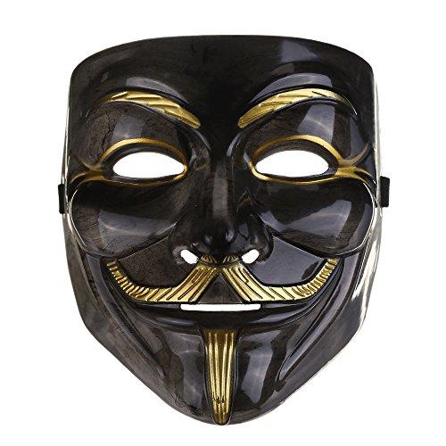 Vendetta Mask /アノニマス/ガイ・フォークス匿名面マスクブラック