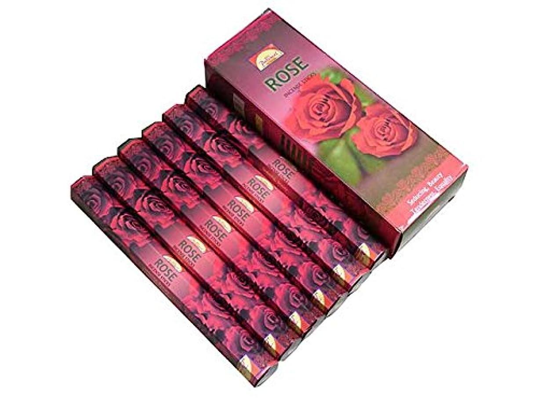 簡単に表面弁護士PARIMAL(パリマル) ローズ香 スティック ROSE 6箱セット