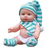 morytrade 人形 赤ちゃん人形 乳児 新生児 おもちゃ 沐浴 赤ちゃん にんぎょう リアル 30cm (水色魔女)