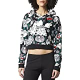 アディダス アウター パーカ&スウェット adidas Originals Women's Cropped Print H Multi Colo 1mv