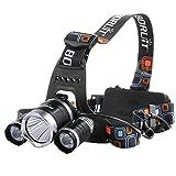 Setom LEDヘッドライト 明るさ最大1100ルーメン 高輝度 キャンプ/サイクリング/ハイキングなどのアウトドア活動に適用