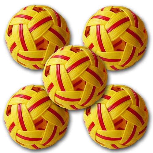お買得5個セット セパタクローボール マラソン社製 MT. 909 女子用 競技用ボール 大会公認球
