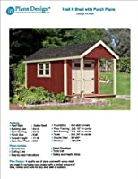 14' x 8' Cabin Loft Utility Shed with Porch Plans / Plueprint - Design #P61408 by Plans Design