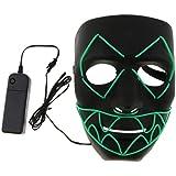 Homyl 仮装 マスク ライトマスク ハロウィーン 仮装 パーティー ダンスパーティー 学園祭 3色選べ - 緑