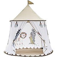 XIANGYUE インディアン部落酋長スタイルの子供用の遊具テント、組み立てが簡単。ピーチスキン生地のキャッスルゲームテント、インディアン部落キャッスル遊具部屋、室内?屋外とも使用可能! 105cm(直径)x 130 cm(高さ)