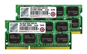 Transcend MacBook Pro & Mac mini 対応メモリ PC3-12800 DDR3 1600 16GB (8GB×2) 1.5V 204pin SO-DIMM (無期限保証) TS16GJMA424H