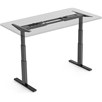 FlexiSpot 電動式スタンディングデスク 高さ調節スタンドアップワークテーブル学習机勉強机 ブラックE3B