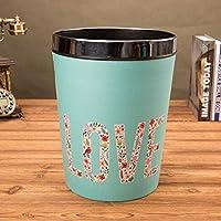 SHYPwM ヴィンテージのゴミ箱、ふたのないごみ箱PUレザーリサイクルゴミ箱は証拠机サイドのゴミ箱寝室を濡らすことができます。 (Color : B)