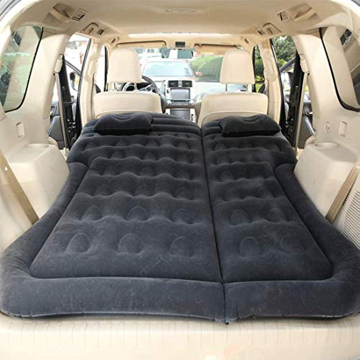 出口変色する彼車のインフレータブルベッドSUV車のエアマットレスとポンプエアクッションポータブルカーリアシートエアベッド旅行キャンプ枕付き屋外