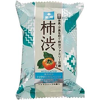 ペリカン石鹸 薬用ファミリー 柿渋石けん 80g×2個
